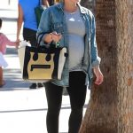 Hilary Duff in a Blue Denim Shirt