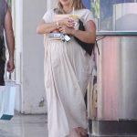 Hilary Duff in a White Summer Dress