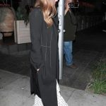 Jessica Alba in a Black Trench Coat