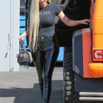 Kylie Jenner in a Black Dior T-Shirt