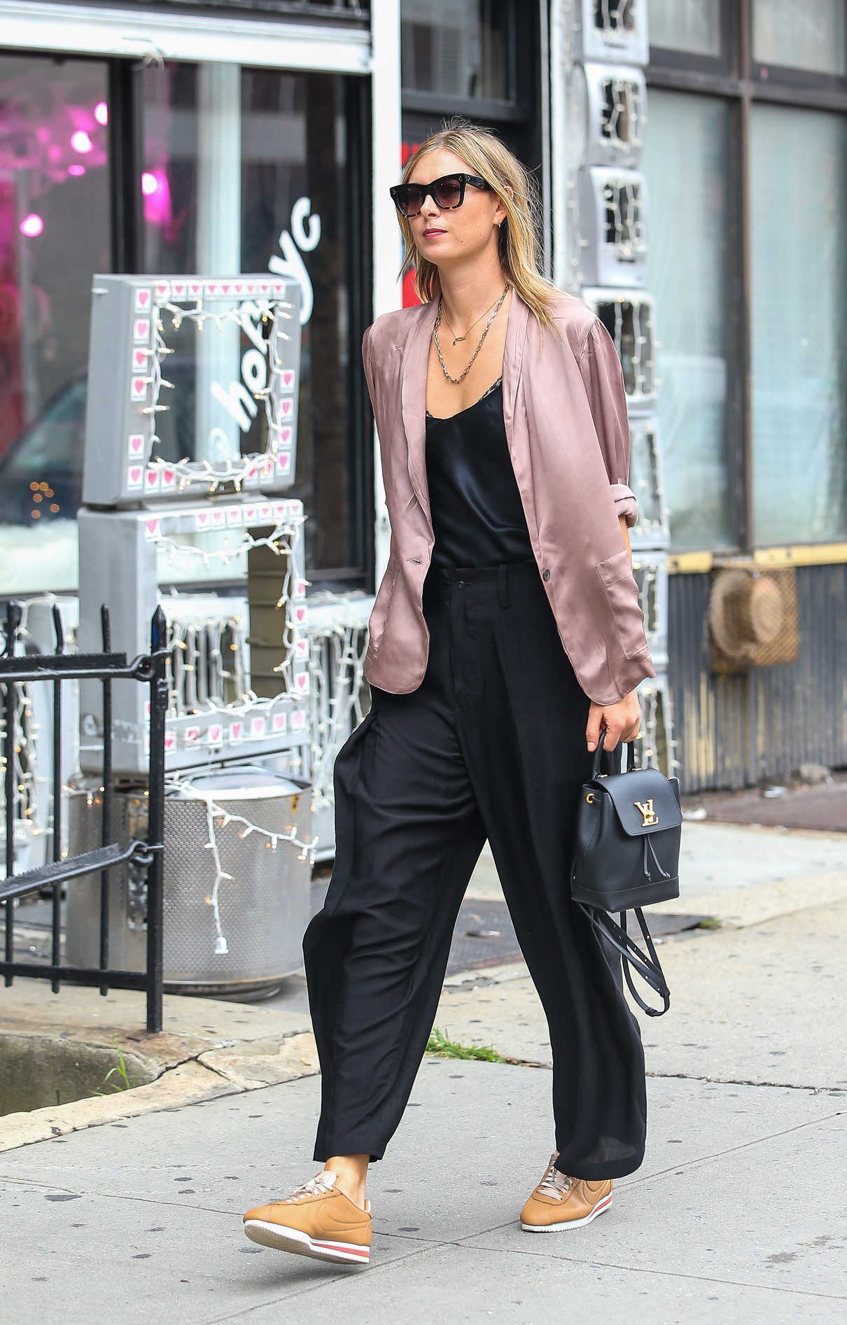 buy popular fe52a aede3 Maria Sharapova in a Nike Cortez Sneakers Was Seen Out in ...