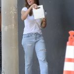 Minka Kelly in a Ripped Blue Jeans