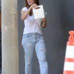 Minka Kelly in a Ripped Blue Jeans