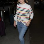 Olivia Wilde in a Stripped Sweater