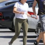 Ariel Winter in a White T-Shirt