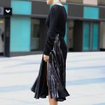 Bella Thorne in a Long Black Skirt