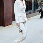 Gigi Hadid in a White Suit