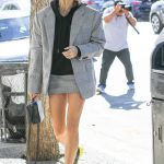 Hailey Baldwin in a Short Skirt