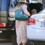 Hilary Duff in a Pink Sundress