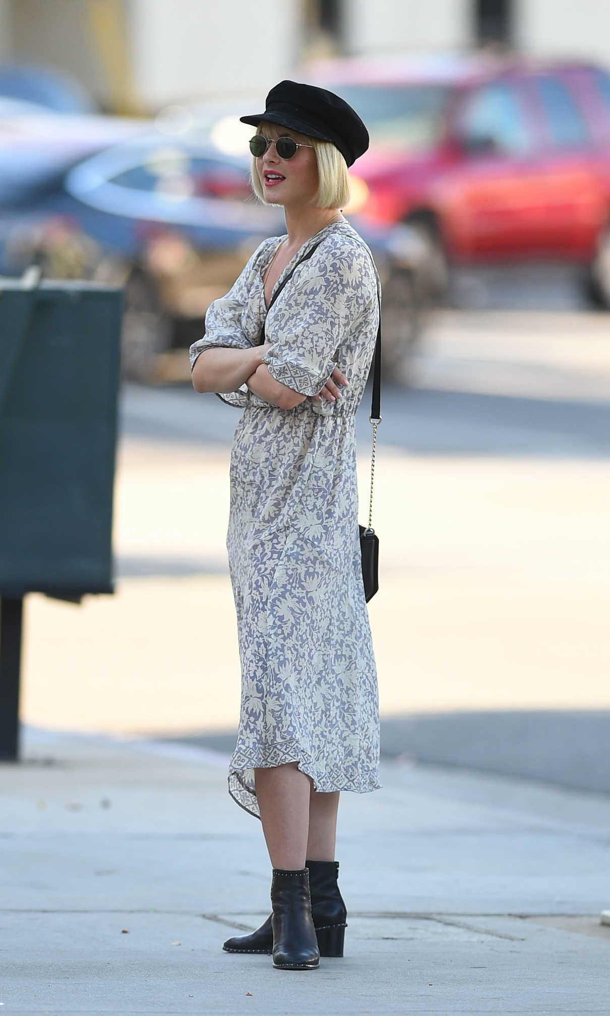 Julianne Hough in a Summer Floral Dress
