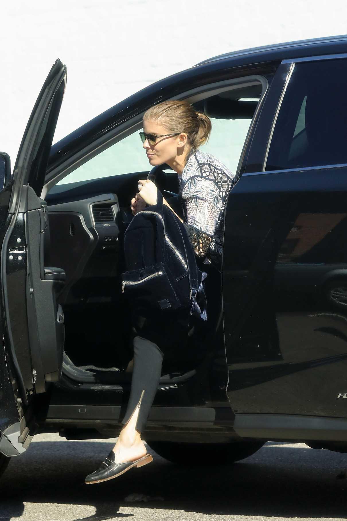 Kate Mara in a Black Pants