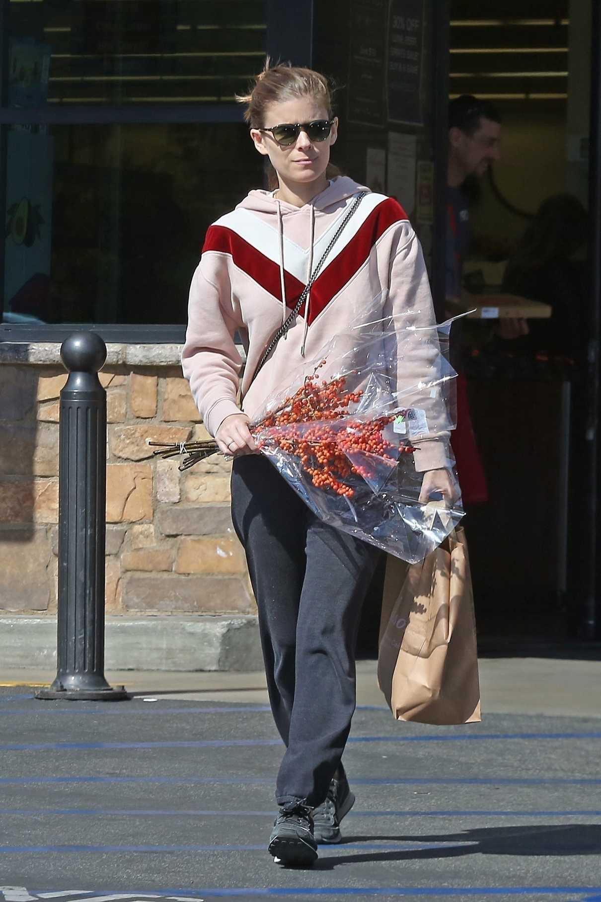 Kate Mara in a Pink Hoody