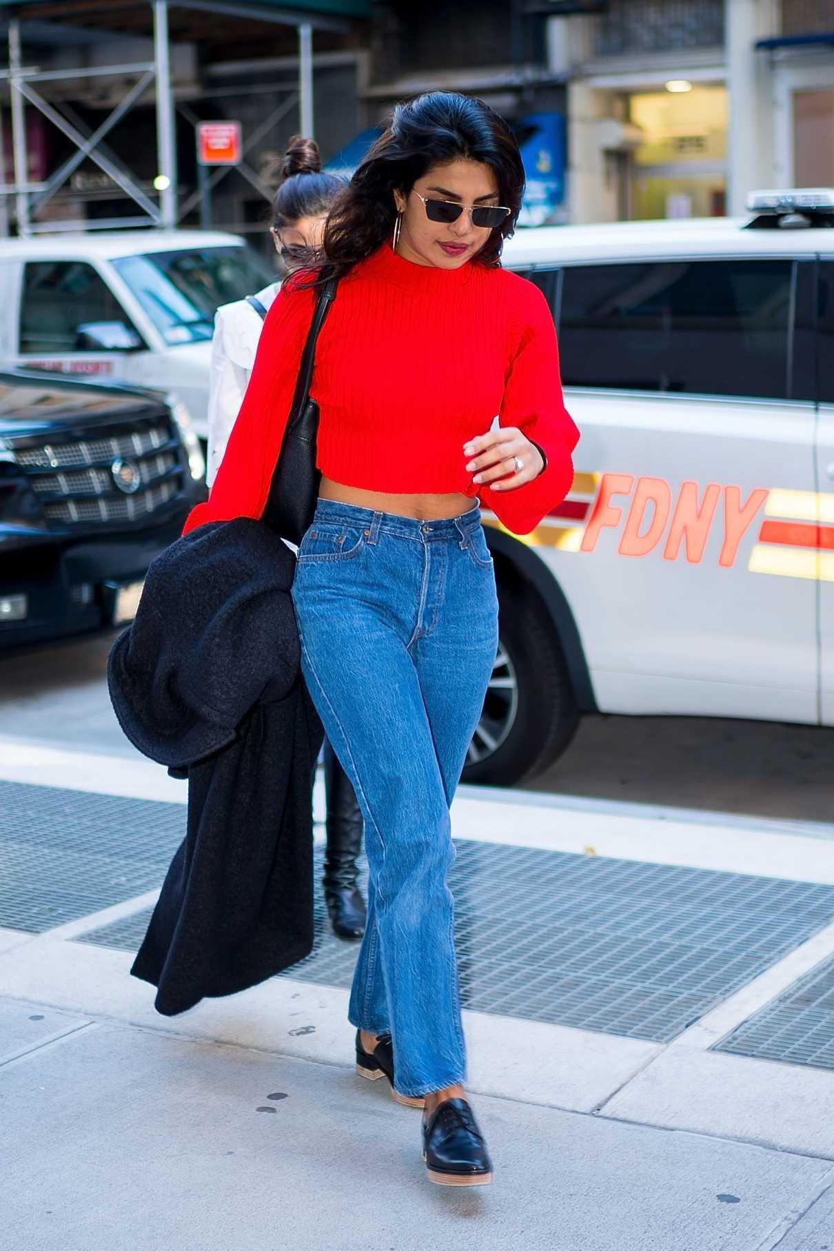 Priyanka Chopra in a Red Sweater