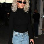 Rita Ora in a Black Turtleneck