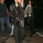 Rita Ora in a Leather Jacket