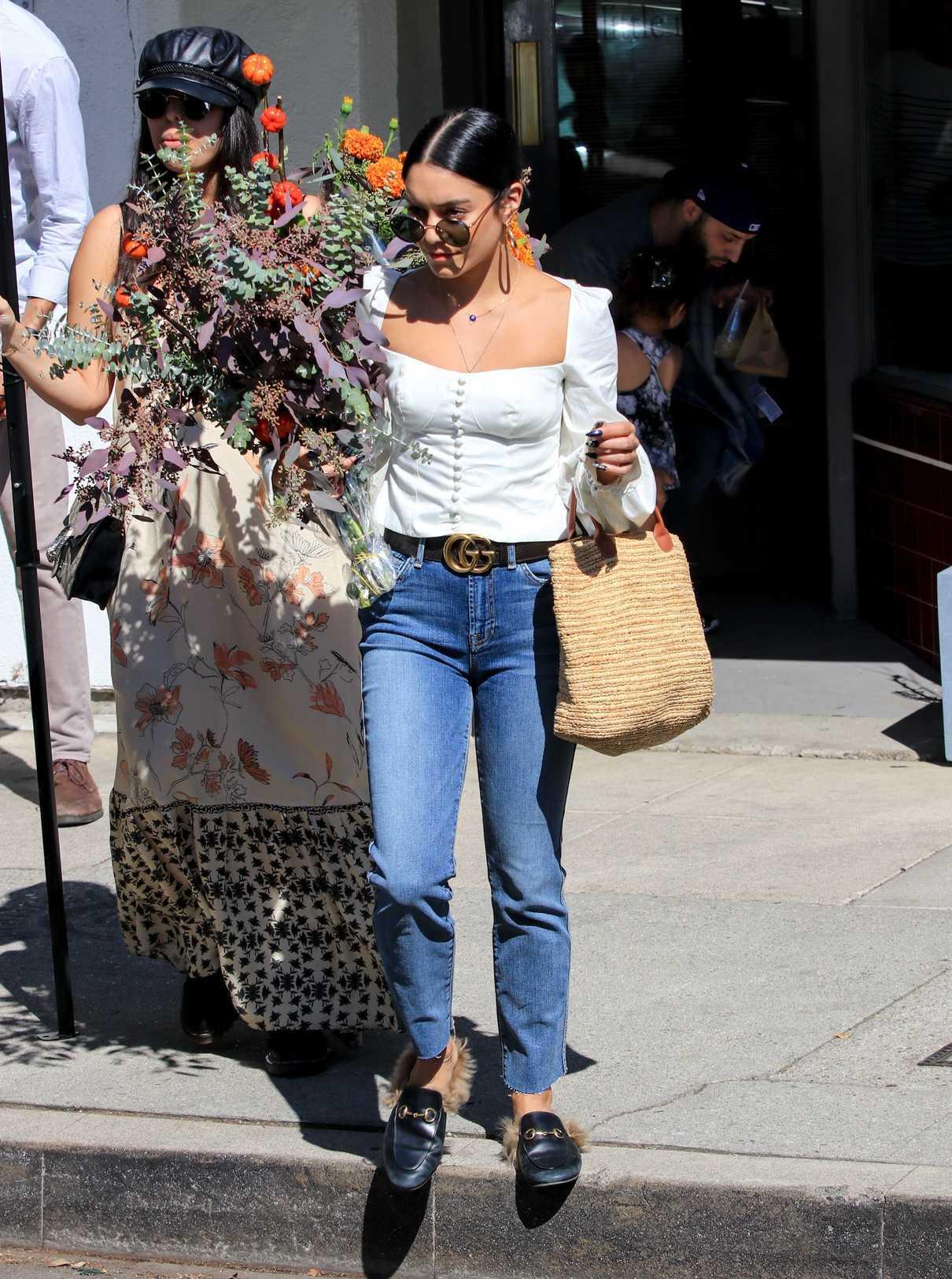 Vanessa Hudgens in a White Blouse