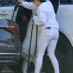 Ariel Winter in a White Ripped Jeans