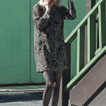 Emma Roberts in a Leopard Print Dress