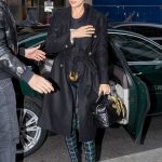Irina Shayk in a Black Coat