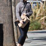 Isla Fisher in a Gray Hoody