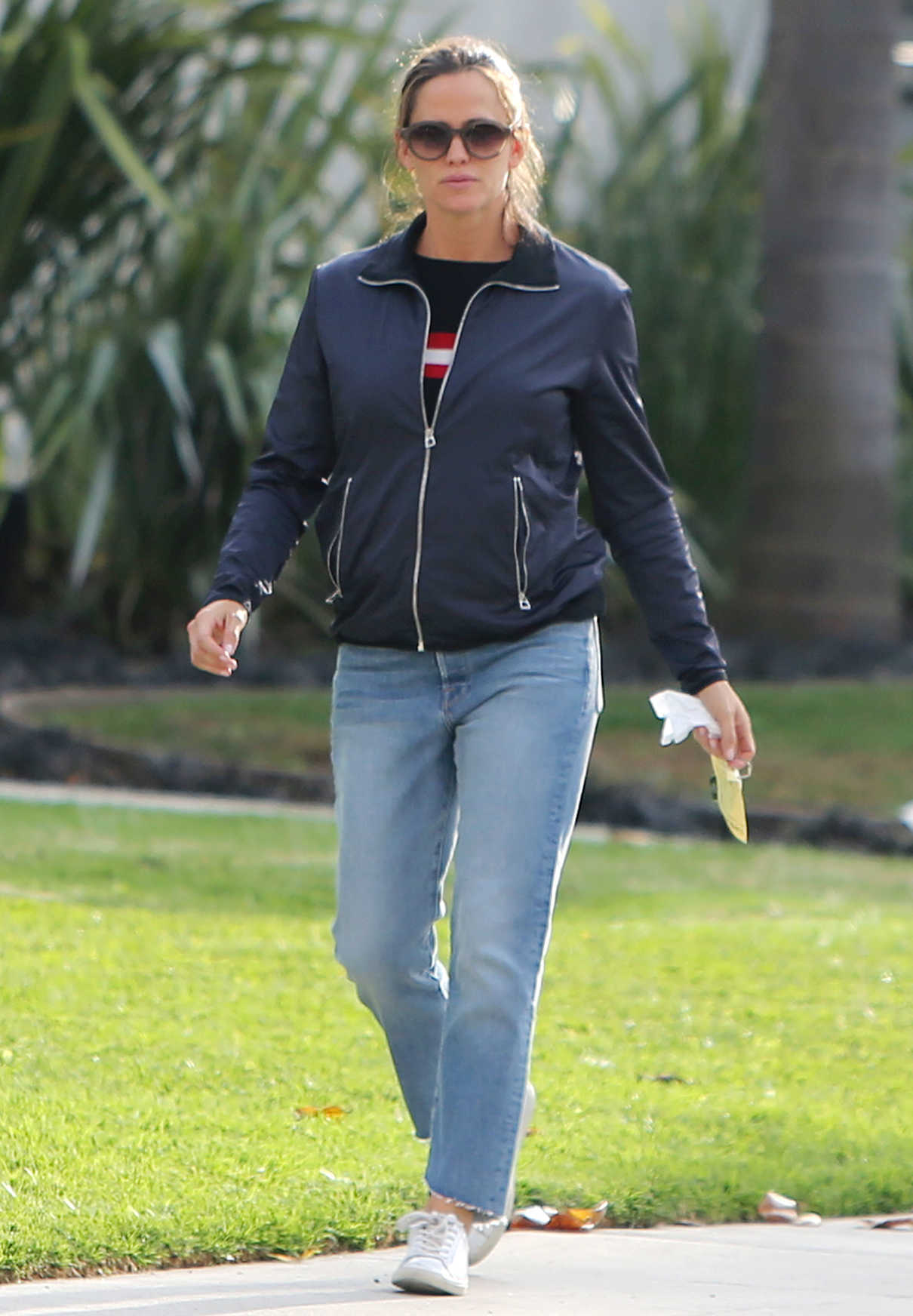 Jennifer Garner in a Blue Jacket