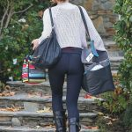 Kate Beckinsale in a Black Leggings