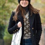 Keira Knightley in a Black Coat