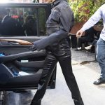Kendall Jenner in a Black Denim Jacket