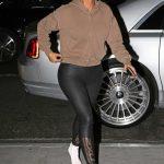 Kim Kardashian in a Baige Hoody