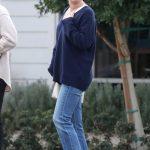 Lea Michele in a Blue Jeans