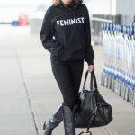 Amber Heard in a Black Hoody