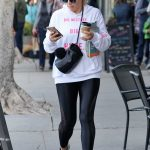 Busy Philipps in a White Hoody