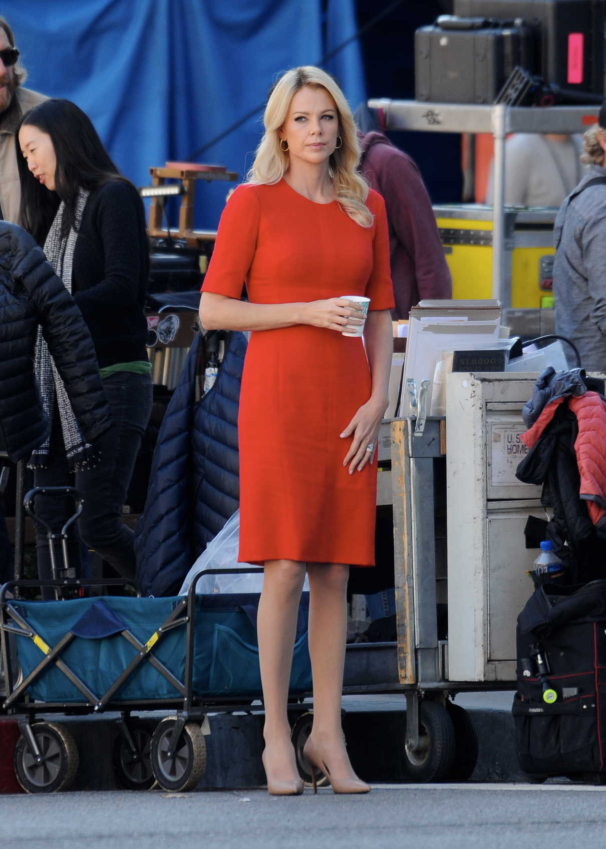 Charlize Theron in a Red Dress