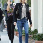 Emma Roberts in a Black Cap