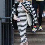 Emma Roberts in a Checked Coat