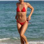 Jasmine Sanders in a Red Bikini