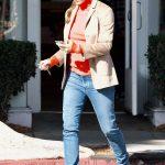 Jennifer Garner in a Red Turtleneck