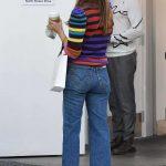 Jessica Alba in a Striped Sweater