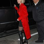 Julianne Hough in a Red Trench Coat
