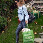 Kate Beckinsale in a Blue Sweatshirt
