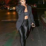 Kim Kardashian in a Gray Blazer