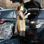Lilly Becker in a Leopard Print Fur Coat