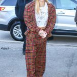 Miley Cyrus in a Plaid Suit
