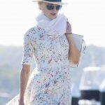 Nicole Kidman in a White Floral Dress