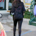 Selena Gomez in a Black Sweatshirt