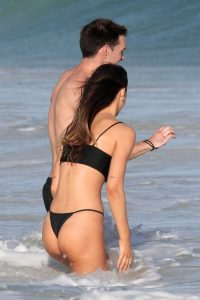 Alexis Ren in a Black Bikini