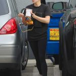 Ariel Winter in a Black T-Shirt