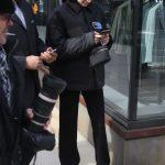 Bella Hadid in a Black Jacket
