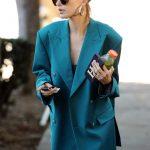 Hailey Baldwin in Oversized Blazer