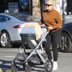 Hilary Duff in a Brown Turtleneck